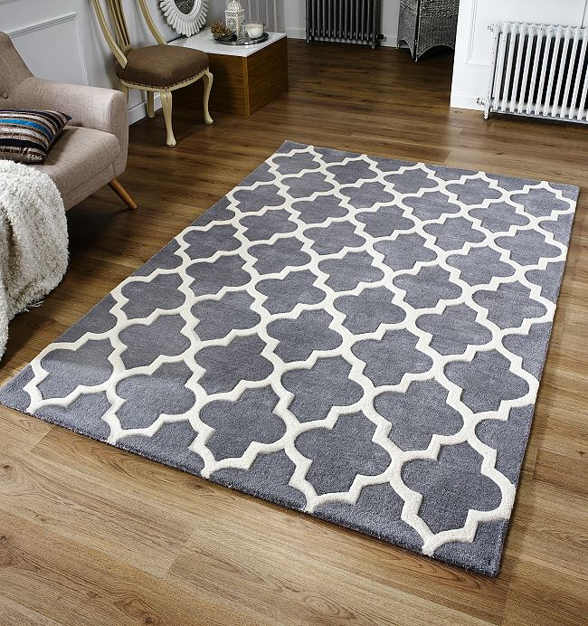 Arabesque Grey Rug On Sale From 163 73 Free Delivery