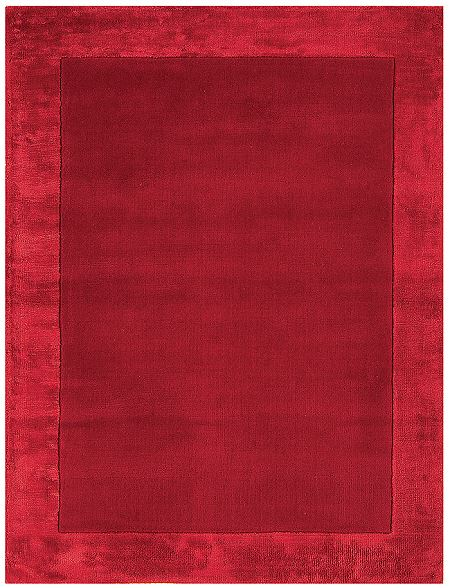 Ascot Red Rugs Stylish Plain Wool Rugs From 163 75