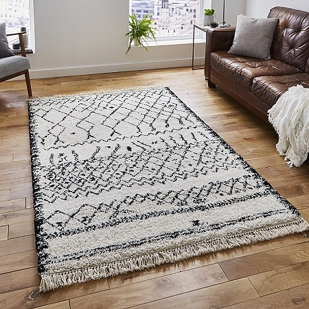 Boho Rugs 5402 Black White From Only 163 90 Express Rugs Uk