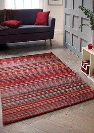 Carter Wool Rugs - Red