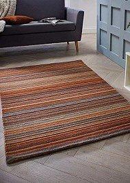 Carter Wool Rugs - Rust