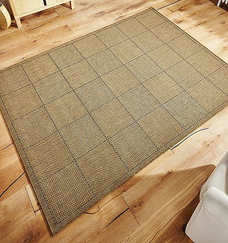 Checked Flatweave Rugs And Hall Runners In Natural Free