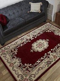 Chinese Rugs Lotus Red