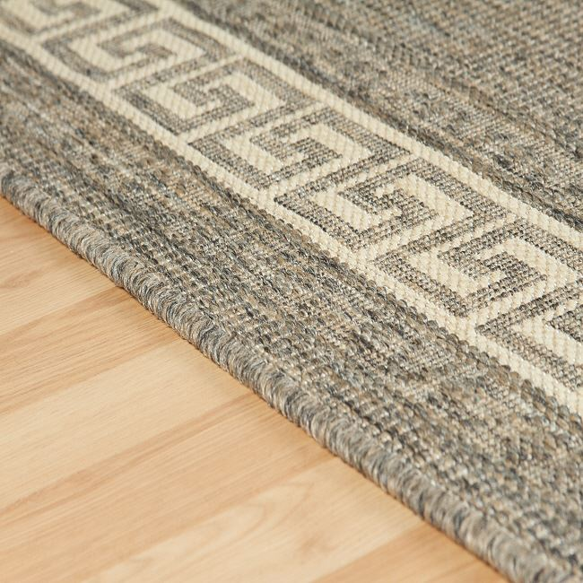 Greek Key Flatweave Grey Rugs And Hall Runners Free Delivery