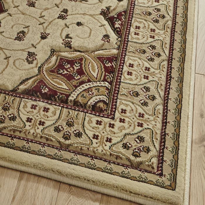 Heritage rug cream red 4400 now on sale from only for Cream and red rugs