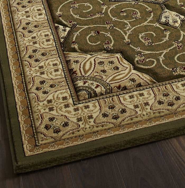 Heritage Rug Green 4400 From Only 163 39 99 Free Delivery To