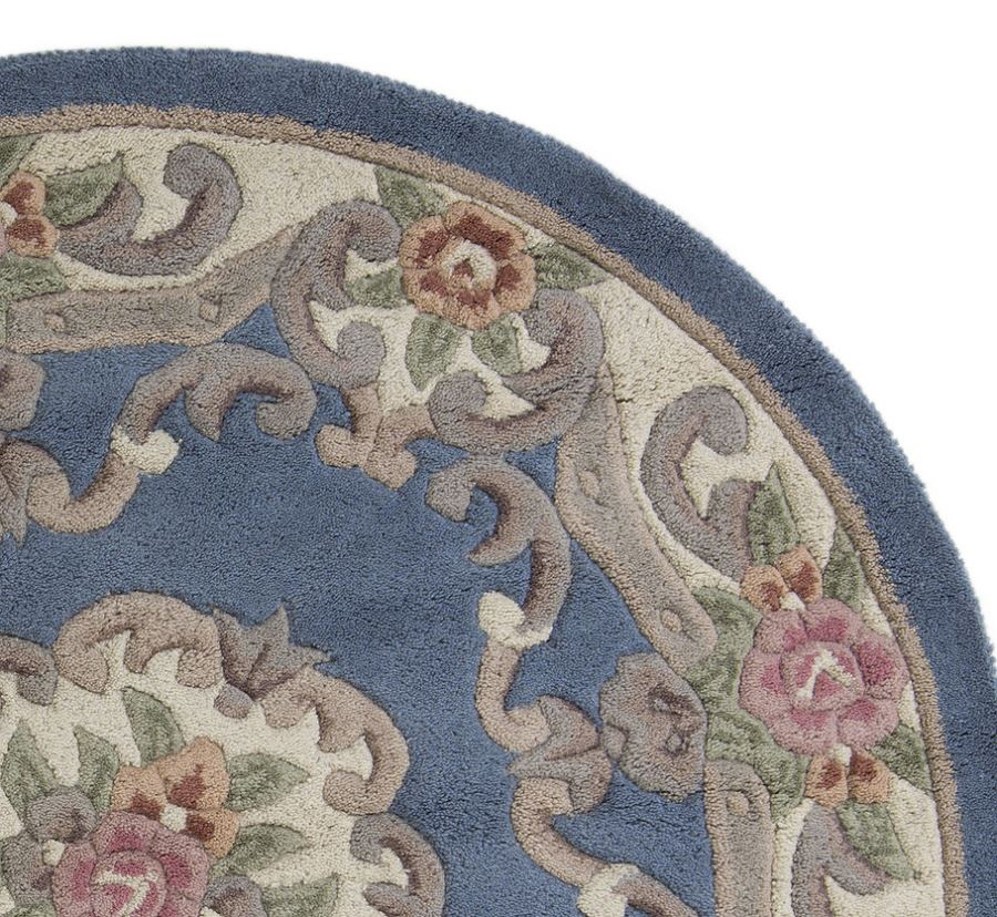 Blue Lotus Chinese Blue Round Rugs Only 163 80