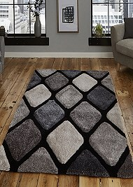 Noble House Rug NH9247 Black Grey