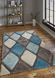 Noble House Rug NH9247 Grey Blue