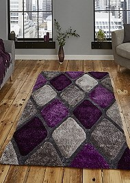 Noble House Rug NH9247 Grey Purple