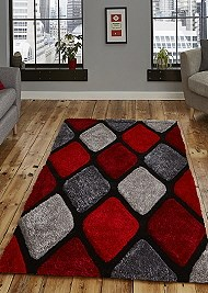 Noble House Rug NH9247 Grey Red