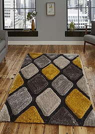 Noble House Rug NH9247 Grey Yellow