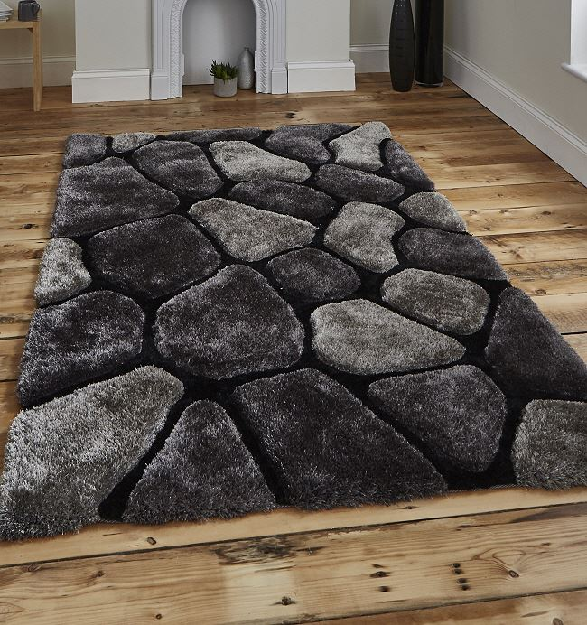 Noble House Rug 5858 Black Grey Shaggy Rugs On Sale From 99 99