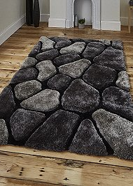 Noble House Rugs Black Grey 5858