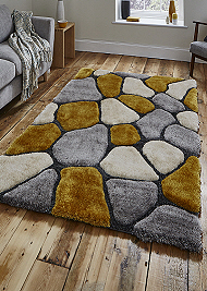 Noble House Rugs Grey Yellow 5858