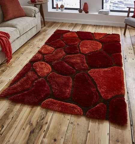 Noble House Rug 5858 Terracotta Shaggy Rugs On Sale From 163