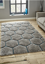 Noble House Rugs Grey Blue 30782