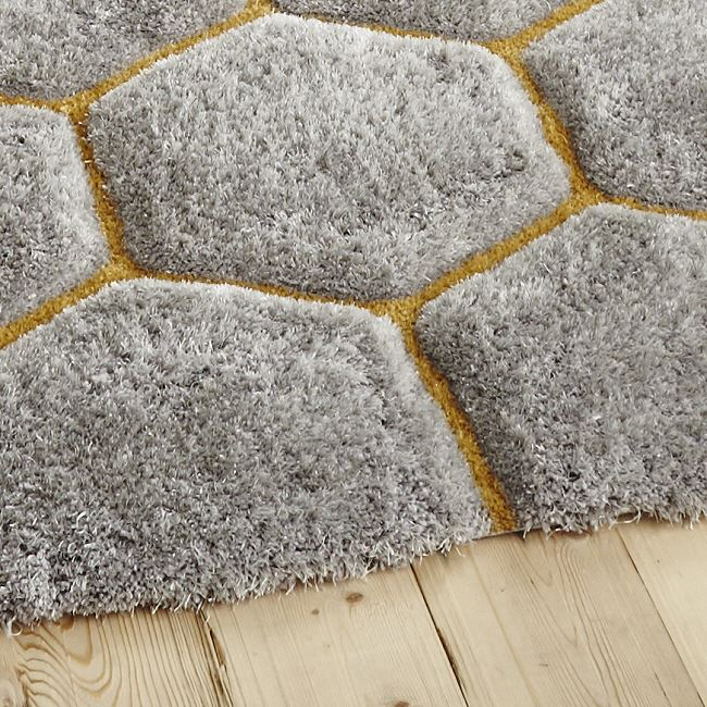 Yellow Shaggy Rug Uk: Noble House Rug 30782 Grey Yellow Shaggy Rugs Now Only £99.99
