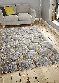 Noble House Rugs Grey Yellow 30782