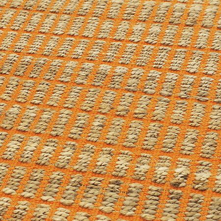 Ranger Rugs Orange Stylish Jute Amp Cotton Rugs