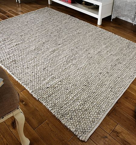 Savannah Grey Rug Pure Wool Modern Textured Rug