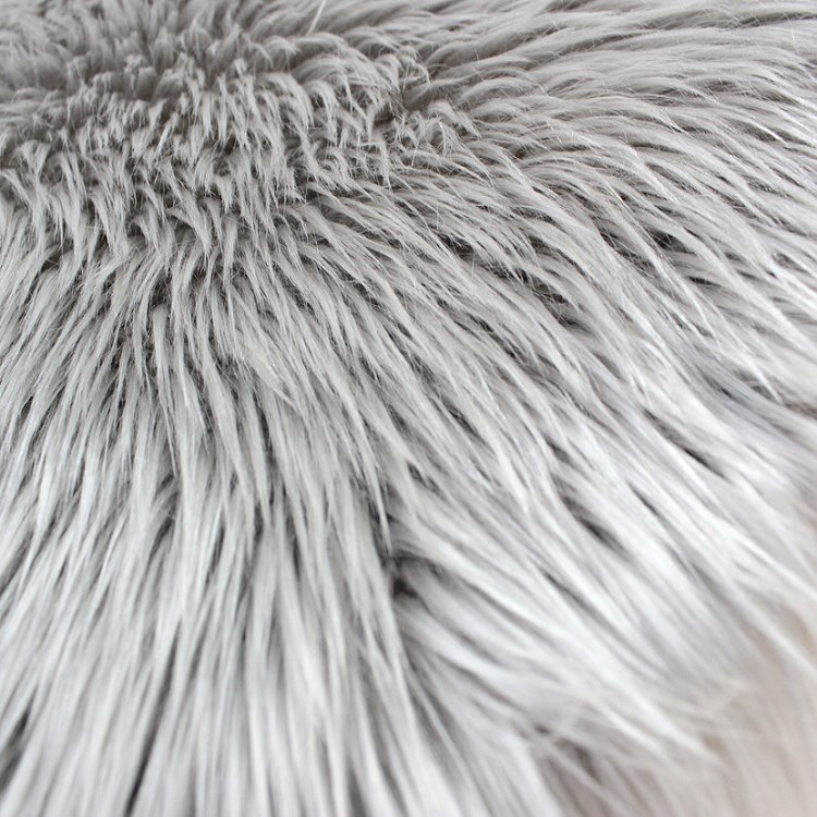Fluffy Faux Fur Sheepskin Rugs In Grey