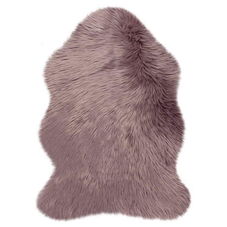 Fluffy Faux Fur Sheepskin Rugs In Mauve