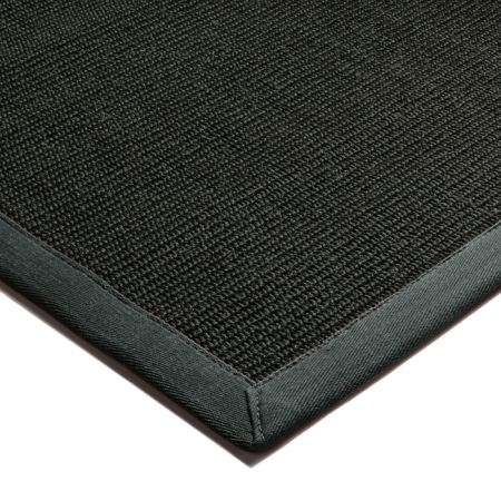 Black Sisal Rugs And Hall Runners With Grey Border From