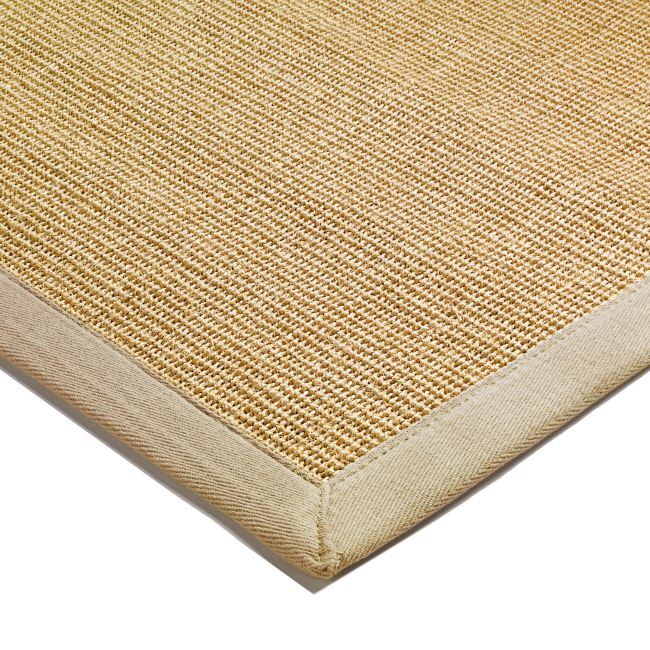 Natural Sisal Hall Runners And Rugs With Beige Border From