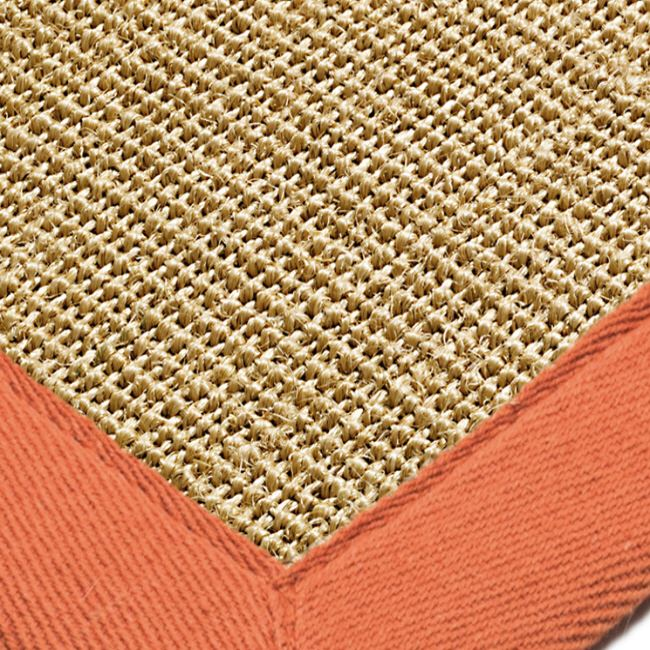 Natural Sisal Rugs With Orange Border From Only 163 59