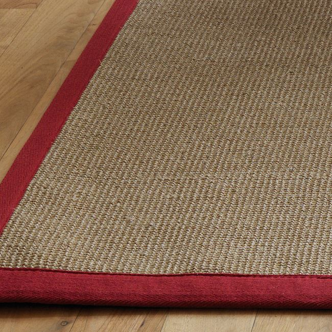 Natural Sisal Rugs Natural Flooring Rugs With Red Border