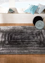Verge Ridge Rug Black Grey