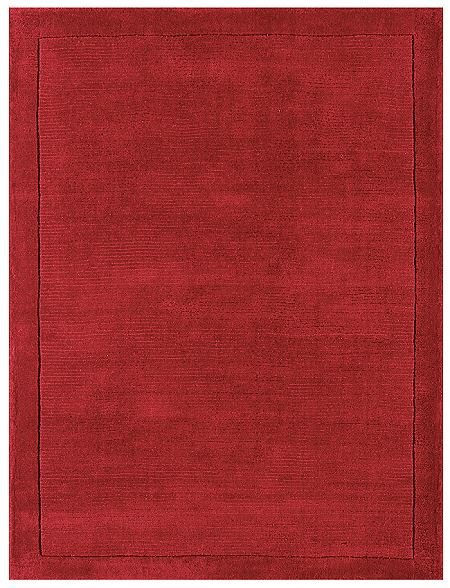York Poppy Rug Plain Red Wool Rugs From Only 163 33